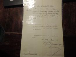 DOCUMENT HISTORIQUE ORDRE DE MUTATION D UN OFFICIER AU 6EME CORPS- GUERRE DE 70-  -BAZAINE -SIEGE DE METZ - ETC - Historical Documents