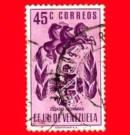 VENEZUELA - Usato - 1953 - Stemma Dello Stato Di Monagas - Arms - 45 - Venezuela