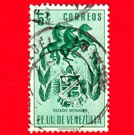 VENEZUELA - Usato - 1953 - Stemma Dello Stato Di Monagas - Arms - 5 - Venezuela