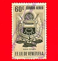VENEZUELA - Usato - 1953 - Stemma Dello Stato Di Nueva Esparta - Arms - 60 - P. Aerea - Venezuela