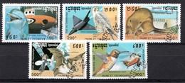 CAMBODJA 1993 MI.NR. 1335-1339 Fauna Und Technik  USED / GEBRUIKT / OBLITERE 1994 - Cambodja