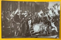 8165 -  La Distribution Des Aigles Par Napoléon  JL David Non Circulée - Peintures & Tableaux