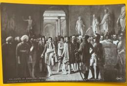 8166 - Napoléon Reçoit Les Députés De L'armée Après Son Couroonement Serangeli David Non Circulée - Peintures & Tableaux