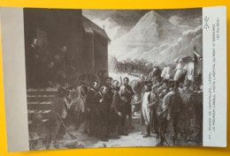 8168 - Le Premier Consul Visite L'hôpital Du Mont Saint Bernard  Lebel  Non Circulée - Peintures & Tableaux