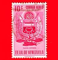 VENEZUELA - Usato - 1953 - Stemma Dello Stato Di Nueva Esparta - Arms - 10 - P. Aerea - Venezuela