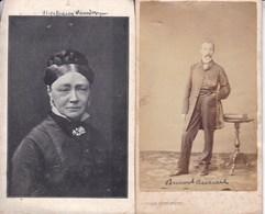 IEPER YPRES SCHAERBEEK Stéphanie VANDE VYVER épouse Benoît ANNOOT  1826-1908 + Photo CDV De Son Mari - Esquela