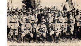 Les Troupes Polonaise En France Groupe D Officiers Polonais - Pologne