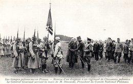 Les Troupes Polonaise En France  Remise D Un Drapeau A Un Regiment De Chasseurs Polonais - Pologne