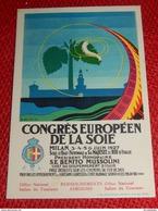 PUBLICIGTE  -  MILANO - MILAN  - Congrès Européen De La Soie  - 1927 - Advertising