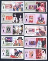 Belize 481 - N° 721/30 Reine Élisabeth II (queen Mother)TIMBRE SUR TIMBRE Cote 7.5 Euros MNH ** - Royalties, Royals