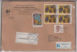 JOUGOSLAVIA REGISTERED MICHEL 1604, 1605 FLOWERS - 1945-1992 République Fédérative Populaire De Yougoslavie