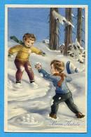 Noel Weihnachten Christmas Enfants Boule De Neige - Bambini