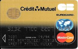 -CARTE+-PUCE-MAGNETIQUE-CB-CREDIT CREDIT MUTUEL -MASTERCARD-01/92--ICA- 1031-CP8-OBERTHUR-09/92TBE-RARE - France