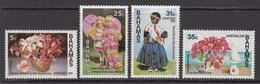 1985 Bahamas Christmas Flowers Art Paintings Complete Set Of 4 MNH - Bahamas (1973-...)
