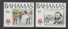 1989 Bahamas Red Cross Health Swimming  Complete Set Of 2 MNH - Bahamas (1973-...)