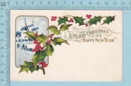 Carte Postale CPA - Christmas, Moulin A Vent   - Used Voyagé En 1919 + USA Stamp, Cover Thomson Minn - Noël