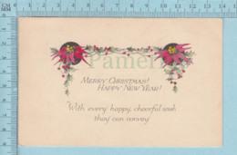 Carte Postale CPA - Christmas,    - Used Voyagé En 1923 + USA Stamp, Cover Island Pond VT - Noël
