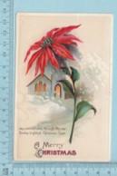 Carte Postale CPA - Christmas, Church & Flower   - Used Voyagé En 1912 + USA Stamp, Cover Concord NH - Noël