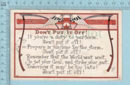 Carte Postale CPA - Tempus Fugit   - Used Voyagé En 1917 + USA Stamp, Cover Orlean VT - Fêtes - Voeux