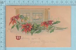 Carte Postale CPA - Yule-tide  - Used Voyagé En 1920 + USA Stamp, Cover  Delphi Falls NY - Fêtes - Voeux