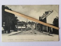 GENAPPE «Route De Bruxelles à Charleroi «animée,passage à Niveau (Édit W.V.S.Decelle Sœur,Genappe) - Genappe