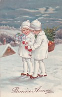 Bonne Année, Happy New Year, Winterscene With 2 Twingirls (pk58402) - Nouvel An