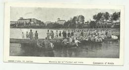 CASSANO D'ADDA - MANOVRA DEL 4o  PONTIERI SULL'ADDA 1907 - FORMATO 9X14 - Milano