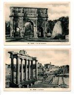 "ITALIE . ROME . ROMA . "" LE FORUM "" & "" ARC DE CONSTANTIN "" . 2 CPSM - Réf. N°21460 - - Roma (Rome)"