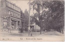 Spa, Boulevard Des Anglais. Nice Store Front.Postcard Shop. - Spa