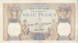 Billet 1000 F Cérès Et Mercure Du 25 Août 1932 FAY 37.07 Alph. W.2098 - 1871-1952 Frühe Francs Des 20. Jh.