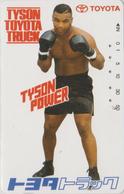 Télécarte Japon / 110-011 - SPORT - BOXE - MAX TYSON ** Pub TOYOTA ** - BOXING Japan Phonecard - 16 - Sport
