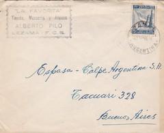 LA FAVORITA, TIENDA MERCERIA Y ANEXOS. ENVELOPE CIRCULEE AN 1943 LEZAMA A BUENOS AIRES, ARGENTINE - BLEUP - Lettres & Documents