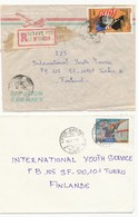 Madagascar 1983 Togo 1989 President John F Kennedy Stamp On 2 Cover To Finland - Kennedy (John F.)
