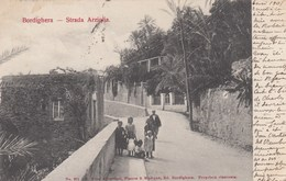 BORDIGHERA-IMPERIA-STRADA ARZIGLIA-FAMIGLIA IN POSA-CARTOLINA VIAGGIATA IL 8-5-1905 - Imperia