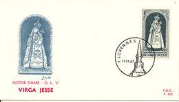 Belgium FDC Florennes11-11-1967 Notre Dame Virga Jesse With Cachet - FDC