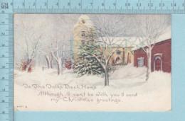 Carte Postale CPA - Christmas  - Used Voyagé En 1917 + USA Stamp, Cover Saint Johnsbury VT - Noël