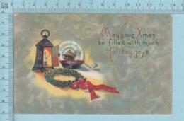Carte Postale CPA - Christmas Lantern - Used Voyagé En 1919 + USA Stamp, Cover Lebanon NH - Noël