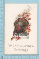 Carte Postale CPA - Thanksgiving, Turkey - Used Voyagé En 1912 + USA Stamp, Cover Chicopee Falls Mass - Thanksgiving