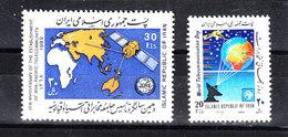 "Iran - 1989. Trasmissioni Satellitari. The Two Stamps "" Satellite Broadcasts."" MNH - Telecom"