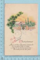 Carte Postale CPA - Merry Christmas - Used Voyagé En 1927 + USA Stamp, Cover Springfield Mass - Noël