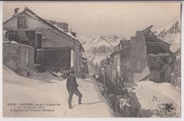 BAREGES (65) : APRES L'AVALANCHE DU 2 FEVRIER 1907 - VUE PRISE DE L'HOPITAL MILITAIRE - 2 SCANS - - Altri Comuni