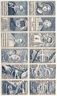 12 Vignettes Pour Les Vocations Religieuses - Prêtre - Pape Foch Jeanne D'arc Père De Foucauld - Autres
