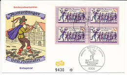FDC Mi 972 -  22 May 1978 - Legend Pied Piper Of Hamelin Rat-Catcher Fairytale - [7] Federal Republic
