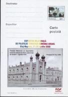 SYNAGOGUE  CLUJ -1886   Carte Postale (Entier Postal) - Roumanie / Romania 2000 - Moskeeën En Synagogen