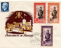 Monaco A 1950 - Prince Rainier & Palais - Lettre Brief Letter - Monaco