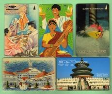 SINGAPORE TELECOM *** Lot De 5 Telecartes Different *** TTBE *** (A6-P19) - Singapour
