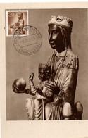 Monasterio De Montserrat 1955 - Barcelona - Santa Imagen - Vierge Noire - Carte Maximum - Maximumkarten