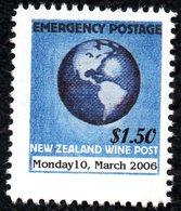 New Zealand Wine Post Emergency Mail 2006 Overprint. DDark Printing. - New Zealand