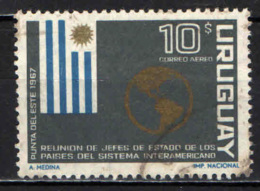 URUGUAY - 1967 - MEETING DEI PRESIDENTI AMERICANI - BANDIERA - USATO - Uruguay