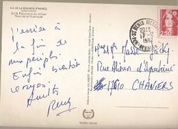 France & Marcofilia, Ile De La Reunion, Piton De La Fournaise, Volcan, St. Denis Messagerie Chaniers 1992 (2513) - France